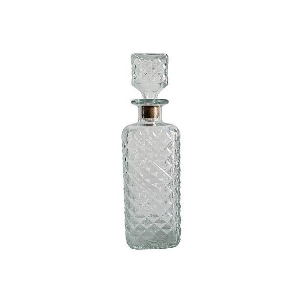 Vintage Mad Men Style Quilted Diamond Cut Decanter - Image 4 of 5