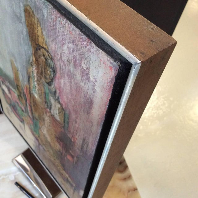 Signed Mixed-Media Abstract Painting - Image 6 of 7