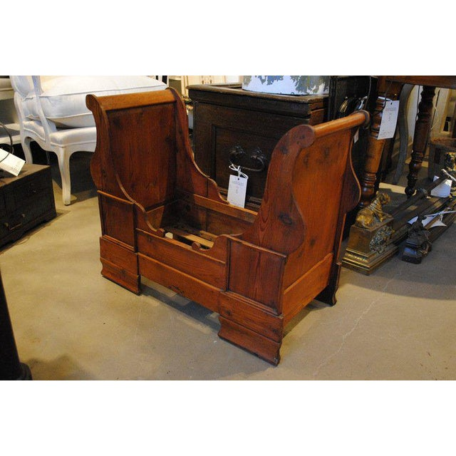 Wood 19th Century Dolls or Dog Sleigh Bed For Sale - Image 7 of 8