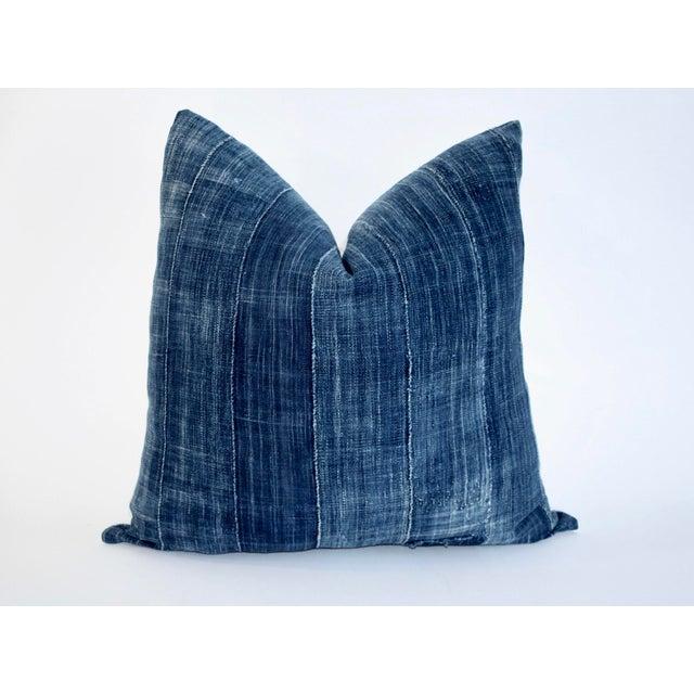 Vintage African Indigo Textile Pillow - Image 2 of 6