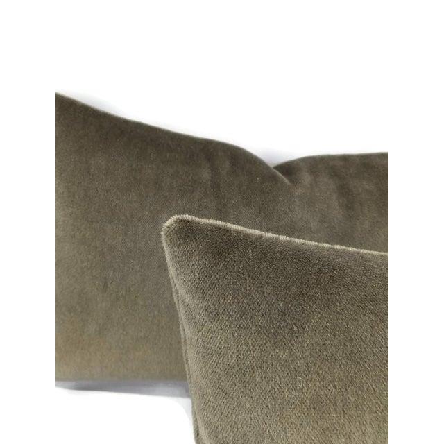 Schumacher F. Schumacher Palermo Mohair Velvet Thyme Lumbar Pillow Cover For Sale - Image 4 of 6