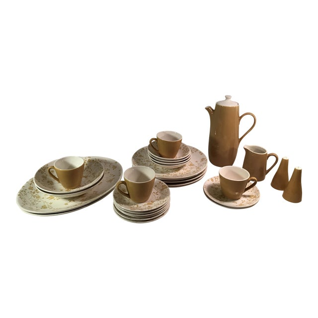 Sheffield Golden Meadow Ironstone Set - 30 Pieces For Sale