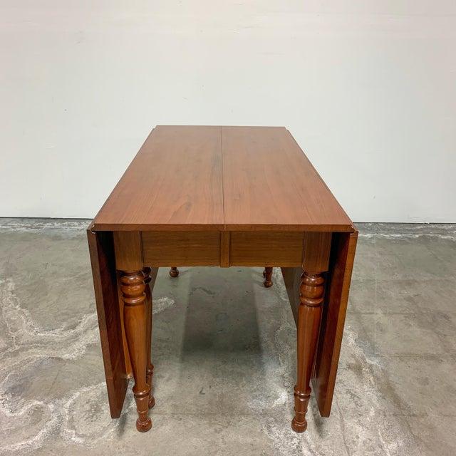 1950s Amana Furniture Walnut Drop Leaf Dining Set - 7 Pieces For Sale - Image 4 of 9
