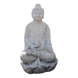 19th Century Antique Sandstone Buddha Statue For Sale