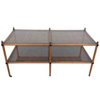 1960's Hollywood Regency Two Tiered Console For Sale