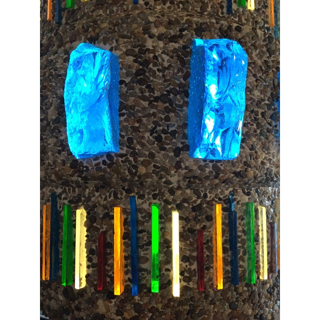 1960s Pebble-Finish Stained Glass Pendant - Image 5 of 5