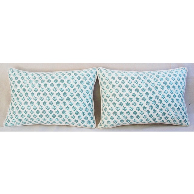 Contemporary Custom Tailored Designer Italian Fortuny Persiano Pillows - A Pair For Sale - Image 3 of 11