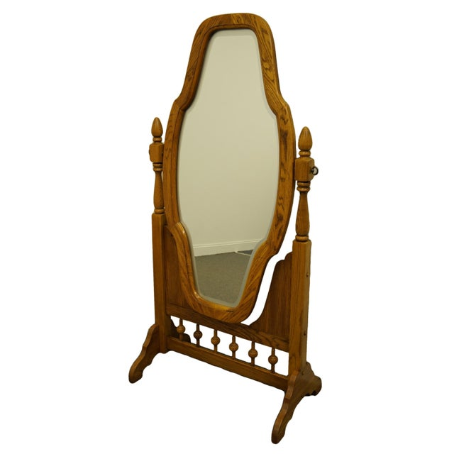 Wood Late 20th Century Rock City Furniture Country Style Floor Mirror For Sale - Image 7 of 7
