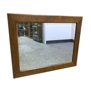 Antique Hand Silvered Rustic Cabin Primitive Wood Frame Mirror