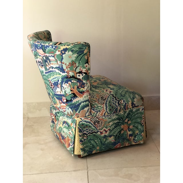 Textile Boho Chic Style Upholstered Vanity Chair For Sale - Image 7 of 13