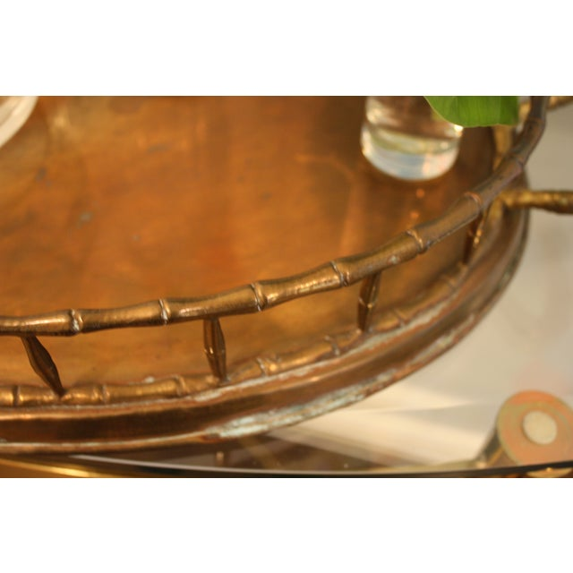 Vintage Faux Bamboo Tray - Image 4 of 8