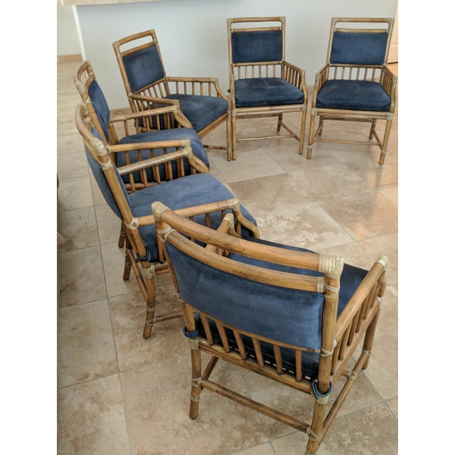 McGuire Rattan Accent Dining Chairs - Set of 6 - Image 2 of 5