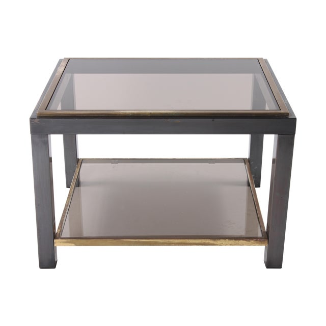 1970s Glass Top End Table - Image 1 of 5