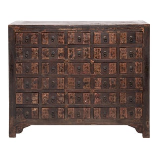 19th Century Chinese Lacquered Apothecary Chest For Sale