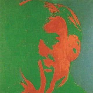 2000 Andy Warhol 'Self Portrait' Pop Art Green,Orange Germany Offset Lithograph For Sale
