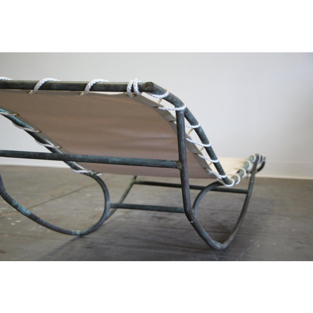 Early Walter Lamb Bronze Rocking Chaise For Sale In San Diego - Image 6 of 13