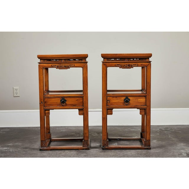 18th Century Chinese Cedar Tea Tables - a Pair For Sale - Image 10 of 10