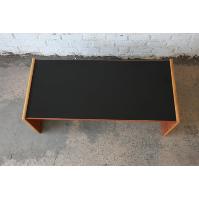 Walnut Jens Risom Mid-Century Modern Coffee Table or Bench For Sale - Image 7 of 9