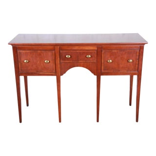 Hekman Regency Style Cherry Wood Sideboard Credenza For Sale