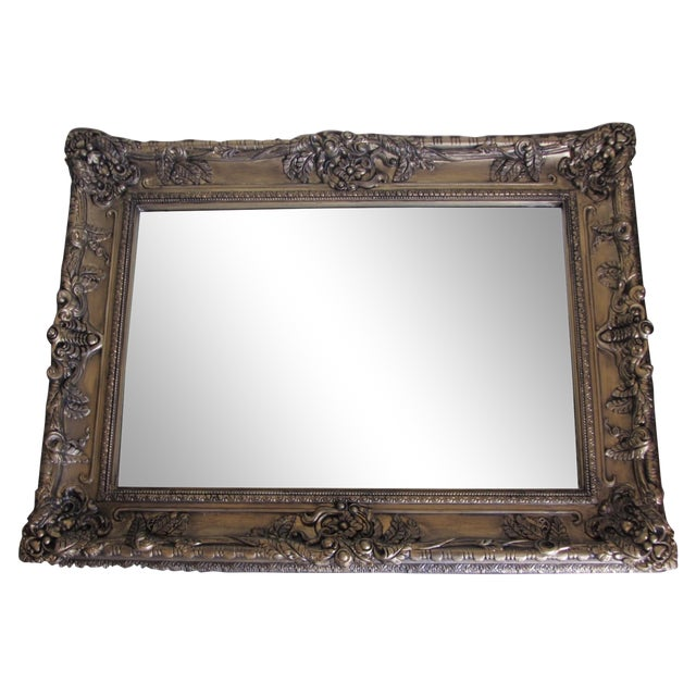 Hand Painted Burnished Gold Traditional Mirror - Image 1 of 7