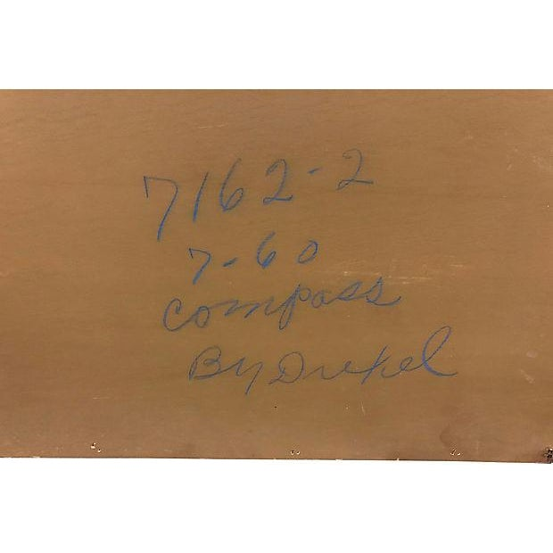 Drexel Compass Pecan Wood Wall Mirror For Sale In Boston - Image 6 of 8