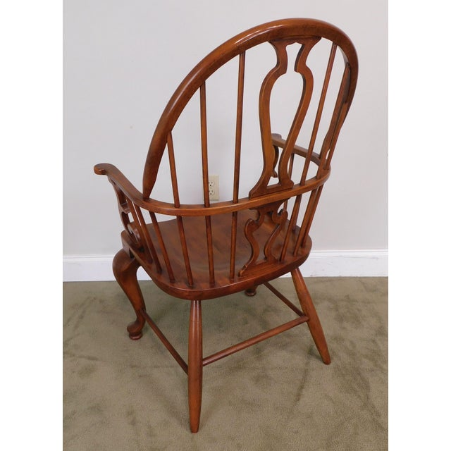 Bob Timberlake Lexington Furniture Set 4 Cherry Windsor Dining Chairs For Sale - Image 10 of 13