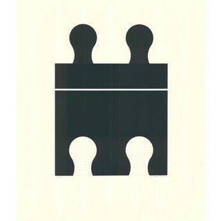 1971 Juan Martinez Composition #1 Hand Signed Silkscreen Print For Sale
