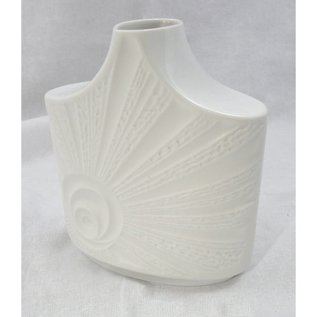 Vintage Mid-Century Bisque Porcelain Vase For Sale - Image 5 of 6
