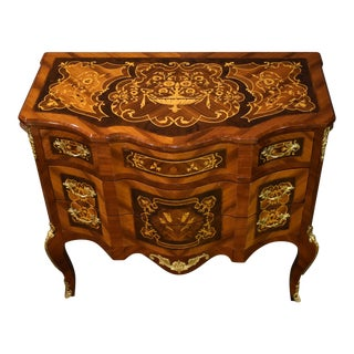 Italian Commode With Brass Ormolu For Sale