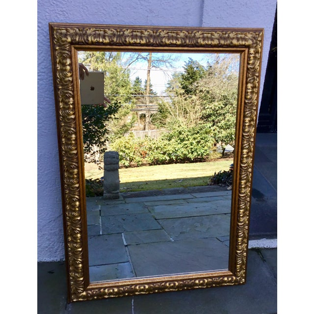 Ornate Gilt Wood Mirror For Sale - Image 4 of 7