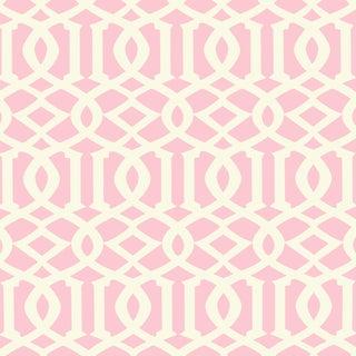 Sample - Schumacher Imperial Trellis II Wallpaper in Blush Preview