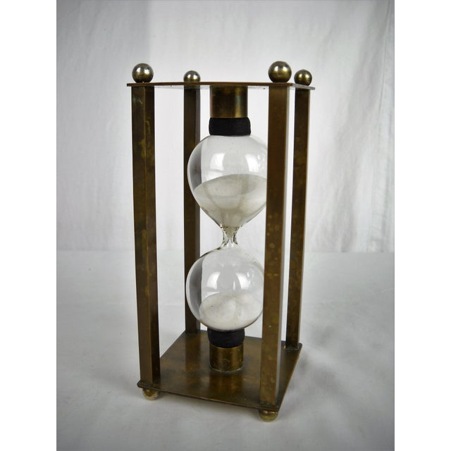 Mid-Century Modern Vintage Brass Petite Hour Glass For Sale - Image 3 of 8