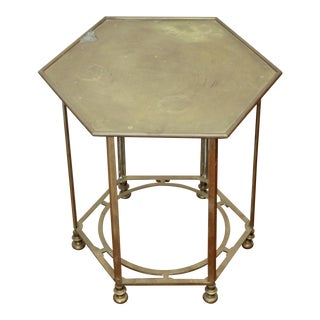 Solid Brass Hexagonal Side Table