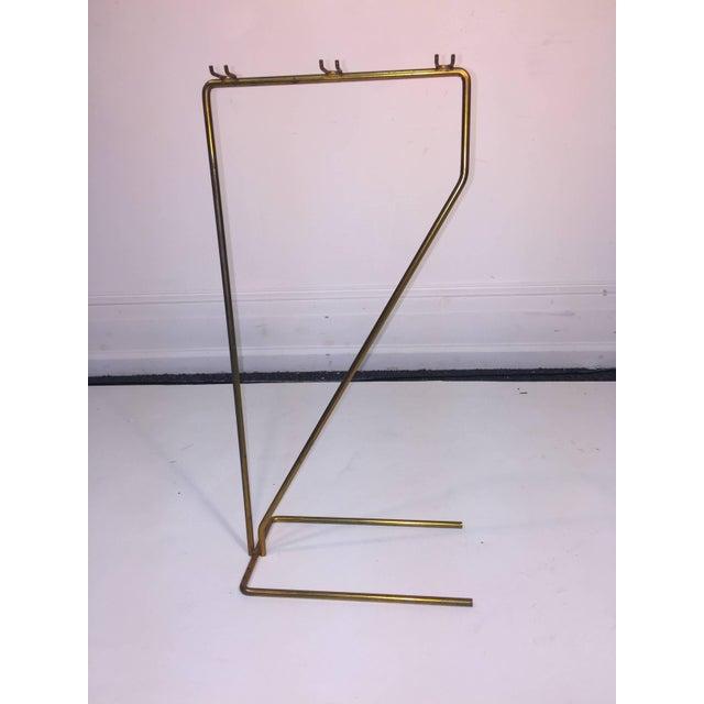 Mid-Century Modern Brass and Black Iron Modernist Firetool Set For Sale In Philadelphia - Image 6 of 7