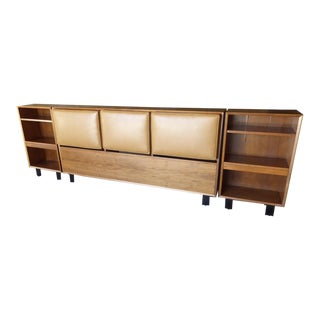 """Primavera"" Mahogany Headboard and Side Cabinets Designed by George Nelson for Herman Miller C. 1950s For Sale"