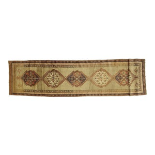 Early 20th Century Antique Bakhshaish Runner Rug - 3′3″ × 14′7″ For Sale