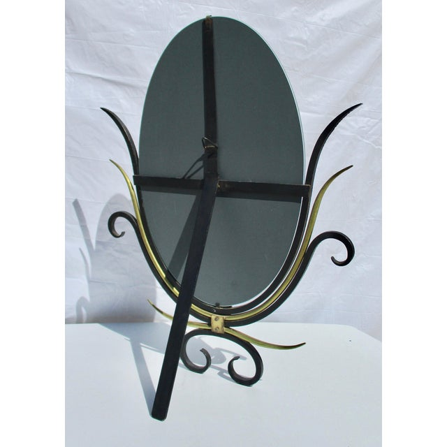 Gilbert Poillerat Style Table Top Mirror For Sale In New York - Image 6 of 9