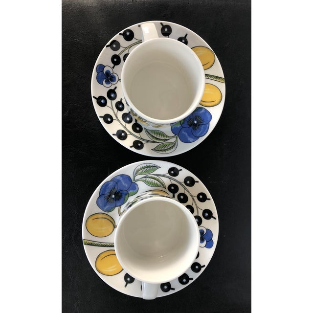 Arabia Finland Paratiisi Set of Two Cups Saucers - 4 Pc. - Image 5 of 9