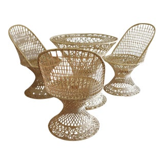 Russell Woodard Spun Fiber Dining Set For Sale