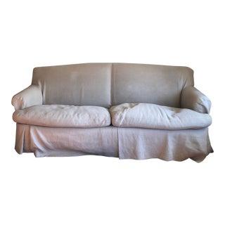 Custom Down Beige Sofa For Sale