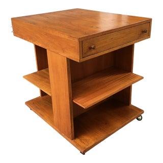 1970s Danish Modern Teak End Table For Sale