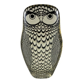 1970s Abraham Palatnik Lucite Owl Figurine For Sale