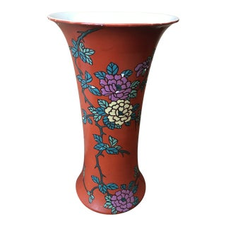Antique 1906 Royal Nippon Nishiki Japanese Chinoiserie Hand Painted Vase For Sale