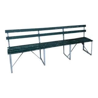 Rustic Green Baseball Bench
