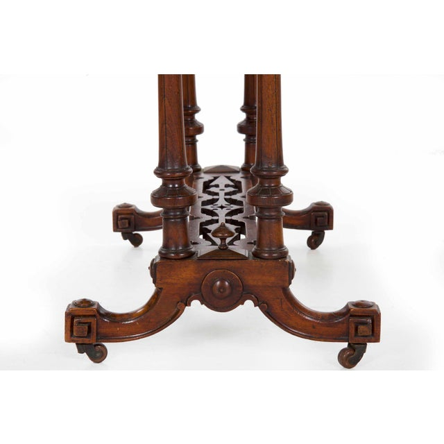 Early Victorian Figured Walnut Antique Games and Work Table, Circa 1860-80 For Sale - Image 10 of 13