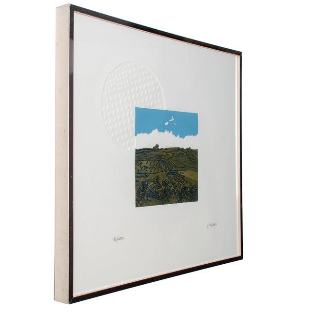 Mid-Century Modern Francisco Copello Embossed Intaglio Print For Sale - Image 3 of 5