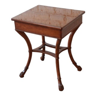 Baker Furniture Stately Homes Mahogany Claw Foot Side Table For Sale