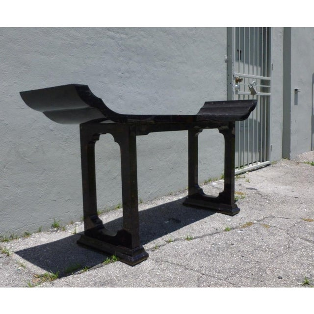 Black 1970s Maitland Smith Tessellated Horn Console Table For Sale - Image 8 of 11