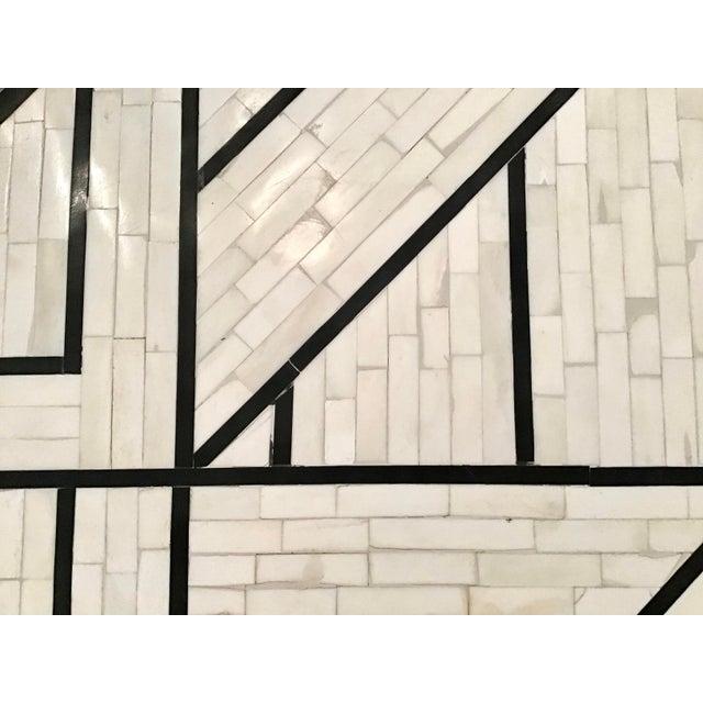 Modern Tessellated Bone Inlay Geometric Coffee Table For Sale - Image 9 of 11