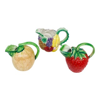 Ceramic Fruit Pitchers - Set of 3